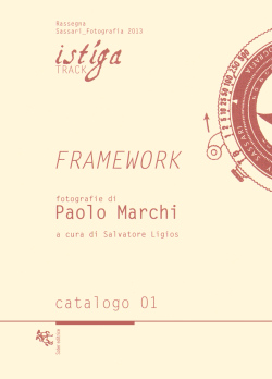 Framework - Paolo Marchi, Soter editrice (2013)